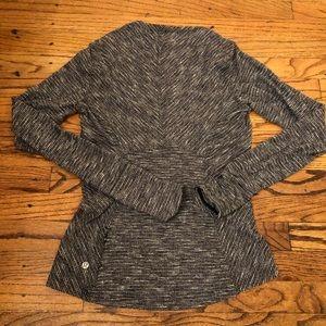 Lululemon Marled black/white running sweatshirt
